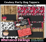 Cowboy Party Bag Toppers