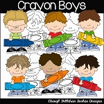 Crayon Boys Clipart Collection