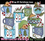 Cup of Christmas Love Clipart Collection
