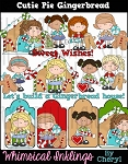 Cutie Pie Gingerbread Clipart Collection