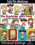 Cutie Pie Stockings Clipart Collection