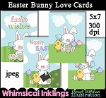 Easter Bunny Love Cards