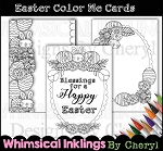 Easter Color Me Cards