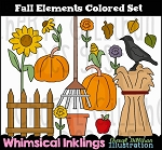 Fall Elements Clipart Collection
