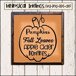 Fall Pumpkins SVG Cutter File