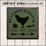 Farmers Market Local and Fresh SVG Cutter File