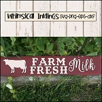 Farm Fresh Milk SVG Cutter File