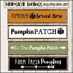 Farm Fresh Pumpkins SVG Set