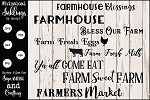 Farmhouse Blessings SVG Sign Set