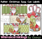 Father Christmas Soup Can Labels
