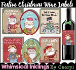 Festive Christmas Wine Labels