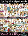 Flip Flop Kids Clipart Bundle