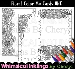 Floral Color Me Cards ONE