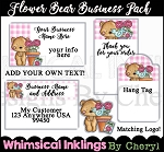 Flower Bear Business Pack