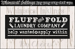 Fluff and Fold laundry Vintage Sign SVG