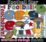 Football Star Clipart Collection