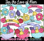 For the Love of Mom Clipart Collection