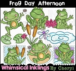 Frog Day Afternoon Clipart Collection
