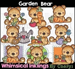 Garden Bear Clipart Collection