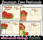 Geranium Love Postcards