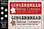 Gingerbread Bakery Sign SVG