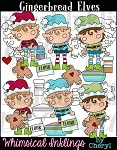 Gingerbread Elves Clipart Collection