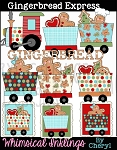 Gingerbread Express Clipart Collection