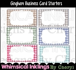 Gingham Business Card Starters
