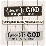 Give It To God SVG Cutter File
