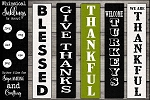 Give Thanks Vertical Sign SVG Set