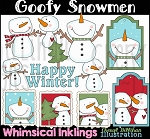 Goofy Snowmen Clipart Collection