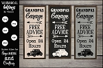 Grandpas Garage SVG