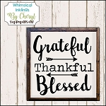 Grateful Thankful Blessed SVG Cutter File