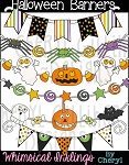 Halloween Banners Clipart Collection