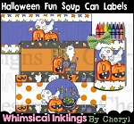 Halloween Fun Soup Can Labels
