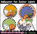 Halloween Fun Sucker Labels