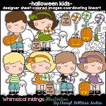 Halloween Kids Clipart Collection