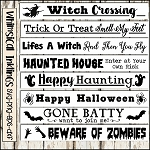 Halloween Sign SVG Bundle