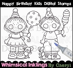 Happy Birthday Kids Digital Stamps