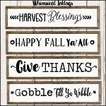 Harvest Blessings SVG Cutter File Set