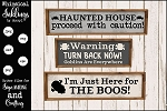 Haunted House SVG Sign Set