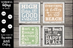 High Tide and Good Vibes-Beach SVG set