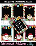 Holly Jolly Chalkboard Cards