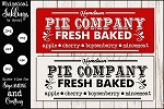 HomeTown Pie Company Sign SVG