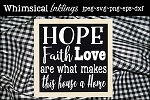 Hope Faith Love SVG