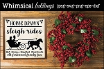 Horse Drawn Sleigh Rides SVG