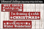 Hot Cocoa and Sleigh Rides SVG Set