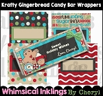 Krafty Gingerbread Candy Bar Wrappers