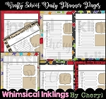 Krafty School Daily Planner Pages
