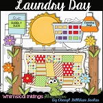 Laundry Day Clipart Collection